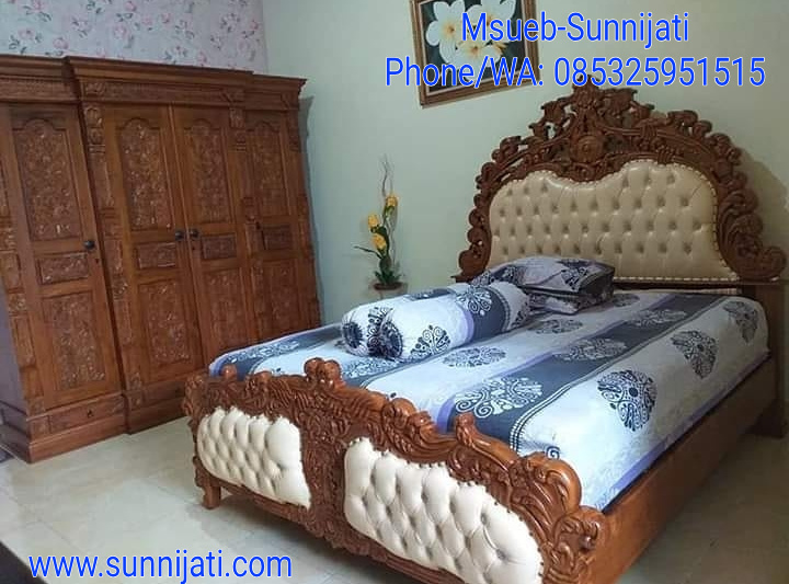 Kamar set, kamar set ukir jepara, kamar set mewah, set kamar tidur, inspirasi ruang kamar tidur